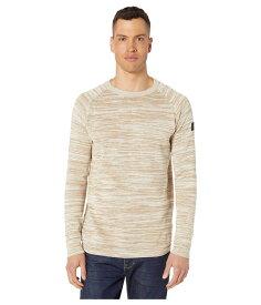ジースター メンズ ニット・セーター アウター Core Straight Round Neck Long Sleeve Knit Sahara/Ivory