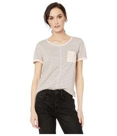トリバル レディース シャツ トップス Yarn-Dye Stripe Short Sleeve Top w/ Pocket Lotus