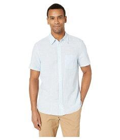 カルバンクライン メンズ シャツ トップス Short Sleeve Linen Blend Shirt Clear Sky