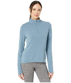 カーハート レディース パーカー・スウェット アウター Force Delmont 1/4 Zip Shirt Steel Blue Heather
