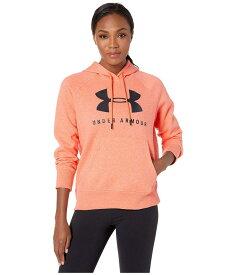 アンダーアーマー レディース パーカー・スウェット アウター Rival Fleece Sportstyle Graphic Hoodie Peach Plasma Medium Heather/Jet Gray