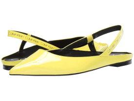 カルバンクライン レディース サンダル シューズ Maya Yellow Flou Crinkle Patent