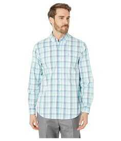 ドッカーズ メンズ シャツ トップス Long Sleeve Signature Comfort Flex Shirt Willey Aqua