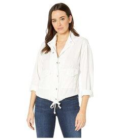 トリバル レディース コート アウター Soft Touch Lyocell Loose Fit Jacket with Drawstring White