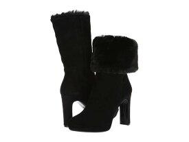 カルバンクライン レディース ブーツ・レインブーツ シューズ Pebbles Black Leather Suede/Shearing