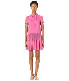 レッドヴァレンティノ レディース ワンピース トップス Double Georgette Dress Sunrise Pink