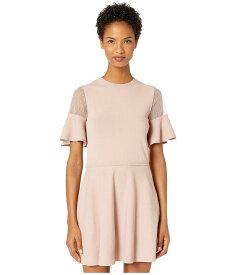 レッドヴァレンティノ レディース ワンピース トップス Stretch Viscose Yarn and Point D'Esprit Dress Desert Pink