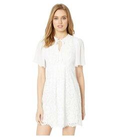 ケンジー レディース ワンピース トップス Spring Lace Short Sleeve A-Line Dress KS4K8363 White