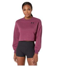 アンダーアーマー レディース パーカー・スウェット アウター Rival Fleece Graphic LC Crew Level Purple/Black