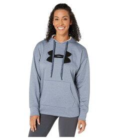 アンダーアーマー レディース パーカー・スウェット アウター Synthetic Fleece Chenille Logo Pullover Hoodie Downpour Gray Light Heather/Black