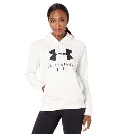 アンダーアーマー レディース パーカー・スウェット アウター Rival Fleece Sportstyle Graphic Hoodie Onyx White/Black