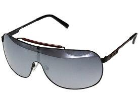 ゲス メンズ サングラス・アイウェア アクセサリー GF5058 Shiny Black/Smoke Mirror