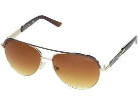 ゲス レディース サングラス・アイウェア アクセサリー GF0287 Gold/Gradient Brown