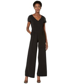 カルバンクライン レディース ジャンプスーツ トップス Embellished Sleeve Jumpsuit Black