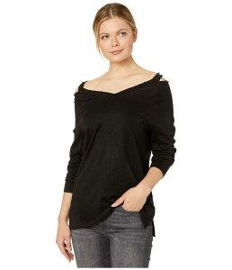 FDJフレンチドレッシングジーンズ レディース パーカー・スウェット アウター Cold Shoulder Bead Detail Long Sleeve Sweater Black