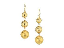 ケネスジェイレーン レディース ピアス・イヤリング アクセサリー Polished Gold 3 Small To Large Bead Drop Fishhook Top Ear Earrings Polished Gold