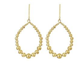 ケネスジェイレーン レディース ピアス・イヤリング アクセサリー Polished Gold Balls Open Oval Direct Post Earrings Polished Gold