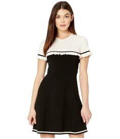 レッドヴァレンティノ レディース ワンピース トップス Sweater Dress Black/Latte