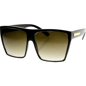 エスダブリュグローバル メンズ サングラス・アイウェア アクセサリー Bobby Square Fashion Sunglasses Black-Gold