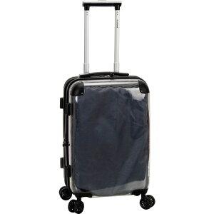 """ロックランド メンズ スーツケース バッグ 20"""" Transparent Hardside Carry-On Spinner Black"""