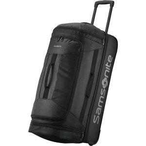 サムソナイト メンズ スーツケース バッグ Andante 2 28 Drop-Bottom Checked Wheeled Duffel All Black