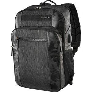 サムソナイト メンズ スーツケース バッグ Quadrion Slim Backpack Black/Camo