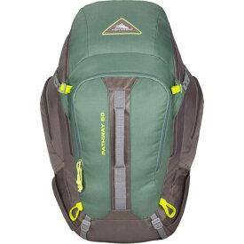 ハイシエラ メンズ バックパック・リュックサック バッグ Pathway 50L Hiking Pack Pine/Slate/Chartreuse