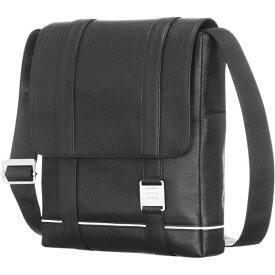 モレスキン メンズ ショルダーバッグ バッグ Lineage Leather Reporter Bag Black