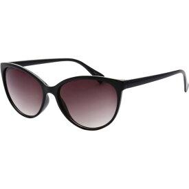 エスダブリュグローバル レディース サングラス・アイウェア アクセサリー Womens Minneapolis Cateye Retro Square Sunglasses Black