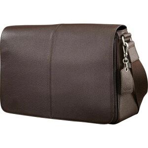 サムソナイト メンズ スーツケース バッグ Mens Leather Classic Messenger Dark Brown