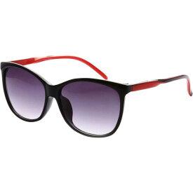エスダブリュグローバル メンズ サングラス・アイウェア アクセサリー Addison Full Frame Retro Square UV400 Sunglasses Black Red