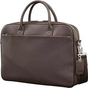 サムソナイト メンズ スーツケース バッグ Mens Leather Classic Briefcase Dark Brown
