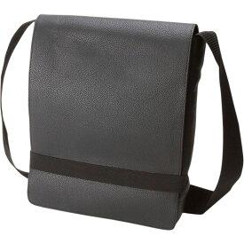 モレスキン メンズ ショルダーバッグ バッグ Classic Leather Reporter Bag Black