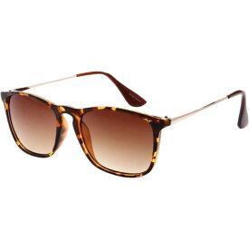エスダブリュグローバル メンズ サングラス・アイウェア アクセサリー Dual Tone Retro Square Frame UV400 Sunglasses Leopard Amber