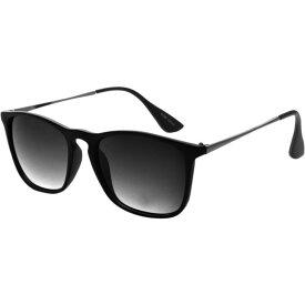 エスダブリュグローバル メンズ サングラス・アイウェア アクセサリー Dual Tone Retro Square Frame UV400 Sunglasses Black Grey Gradient