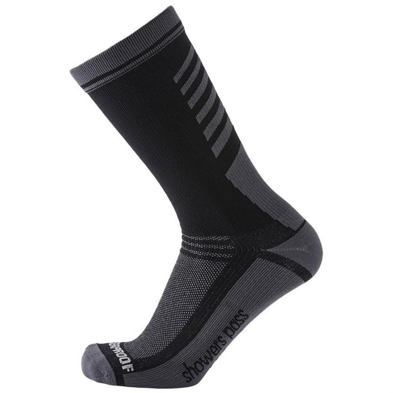 シャワーパス メンズ 靴下 アンダーウェア Showers Pass Crosspoint Lightweight Waterproof Crew Socks Black