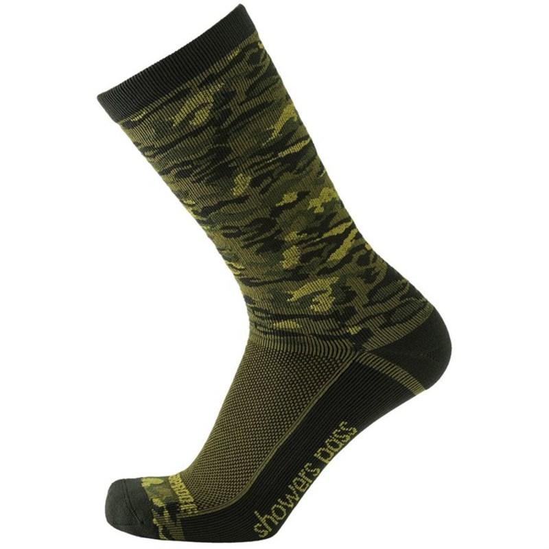 シャワーパス メンズ 靴下 アンダーウェア Showers Pass Crosspoint Lightweight Waterproof Crew Socks Forest Camo