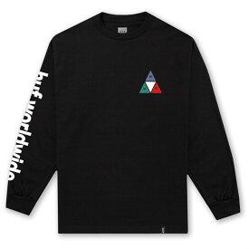 ハフ メンズ Tシャツ トップス HUF Prism TT Long-Sleeve T-Shirt Black
