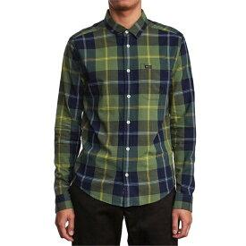 ルーカ メンズ シャツ トップス RVCA Okapi Plaid Long-Sleeve Shirt Celtic Green