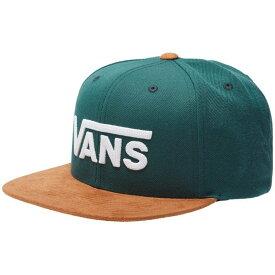 バンズ メンズ 帽子 アクセサリー Vans Drop V II Snapback Hat Vans Trekking Green-Khaki