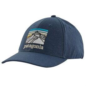 パタゴニア メンズ 帽子 アクセサリー Patagonia Line Logo Ridge Channel Watcher Cap Stone Blue