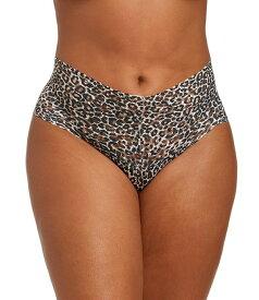 ハンキーパンキー レディース パンツ アンダーウェア Plus Retro Signature Lace Leopard Print Thong Brown/Black