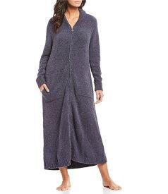 ベアフットドリームス レディース ナイトウェア アンダーウェア Cozy Chic Full Zip-Front Robe Pacific Blue