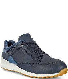 エコー レディース スニーカー シューズ Women's Golf Street Retro Leather Golf Shoes Navy