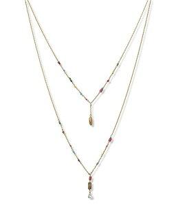 ラッキーブランド レディース ネックレス・チョーカー アクセサリー Charmed Multi Strand Necklace Gold