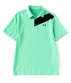 アンダーアーマー レディース シャツ トップス Golf HeatGearR Short-Sleeve Loose Playoff Polo 2.0 Vapor Green/Black