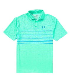 アンダーアーマー レディース シャツ トップス Golf HeatGearR Short-Sleeve Loose Premiere Yarndye Playoff Polo 2.0 Vapor Green/Vapor Green/Escape