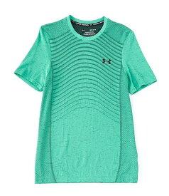 アンダーアーマー レディース シャツ トップス Fitted Seamless Wave Short-Sleeve T-Shirt 299 Vapor Green