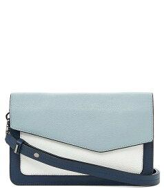ボトキエ レディース ショルダーバッグ バッグ Cobble Hill Pebble Leather Colorblock Flap Snap Shoulder Bag Ink/Multi