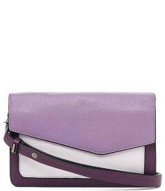 ボトキエ レディース ショルダーバッグ バッグ Cobble Hill Pebble Leather Colorblock Flap Snap Shoulder Bag Purple/Multi